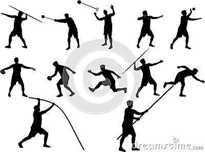 Athletics ailhouettes