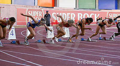 Athletics Championship, 100 meters women Editorial Image