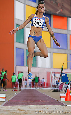 Athletics Championship, Marta Godinho Editorial Photo