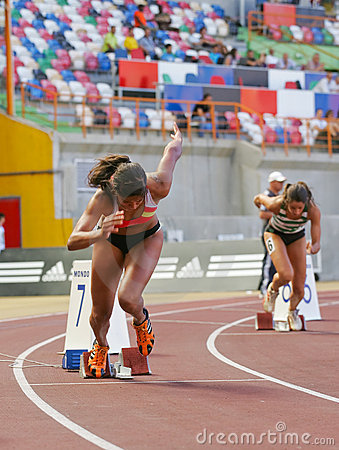 Athletics Championship, Mirian Tavares Editorial Stock Image