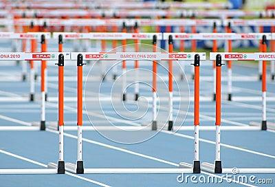 Athletics Hurdles Editorial Photography