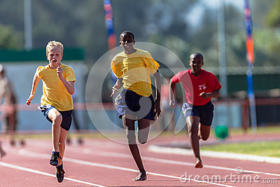 Athletics Teenagers Sprint Editorial Stock Photo