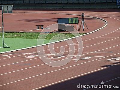 Athletische Bahn