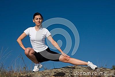 Athletische Frau