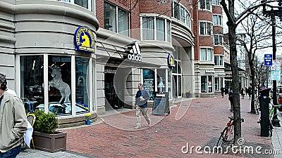 Athletische Vereinigung Bostons an Boylston-Straße in Boston, USA, stock video