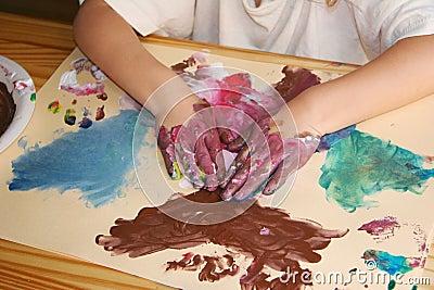 Atividade pré-escolar da pintura