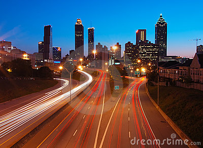 Atlanta Downtown during dusk