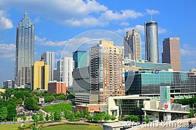 Atlanta, Georgia Skyline Editorial Stock Image