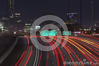 Atlanta Interstae 85 Night Editorial Stock Image