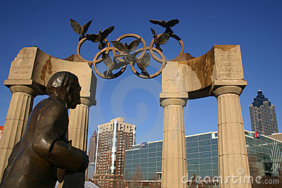 Atlanta Olympic sculpture in Centennial Park Editorial Photography