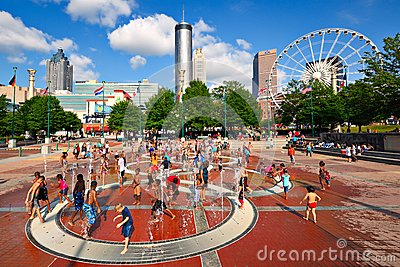 Atlanta Park Editorial Stock Image