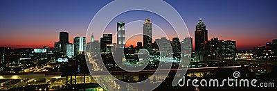 Atlanta skyline Editorial Photo