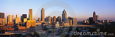 Atlanta Skyline at sunset Editorial Stock Image
