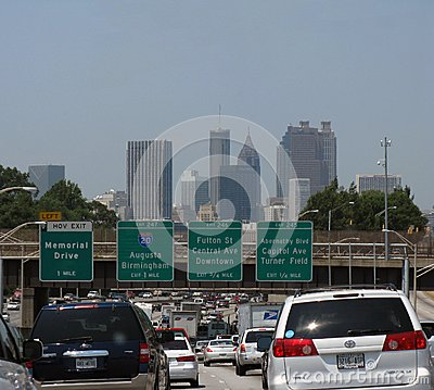 Atlanta traffic Editorial Stock Photo