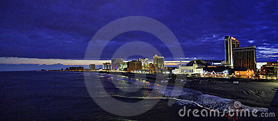 Atlantic City Shoreline Editorial Stock Photo