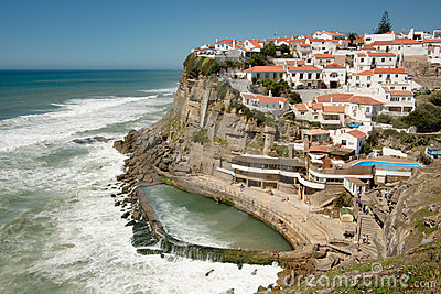 Atlantic Cliff Village, Portugal Editorial Photo