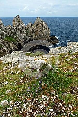 Atlantic coast in Brittany