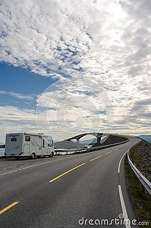 The Atlantic coast road