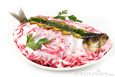 Atlantic Herring with vegetables