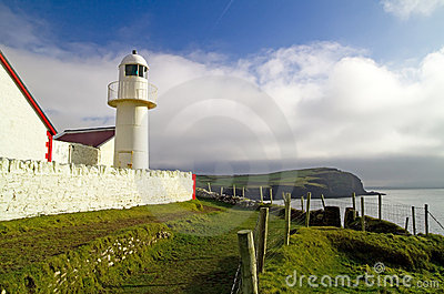 Atlantic lighthouse in Dingle