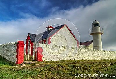 Atlantic lighthouse in Dingle