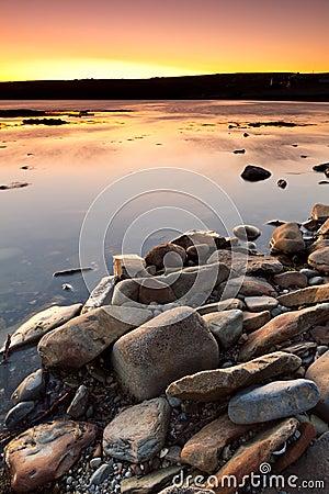 Atlantic ocean scenery at sunset
