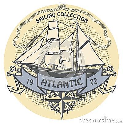 Atlantic Sailing stamp