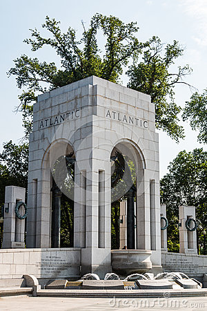 Free Atlantic Triumphal Arch With Fountain And Wreaths Stock Image - 96853791