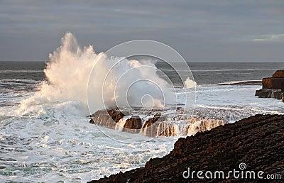 Atlantic wave explosion