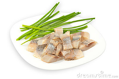 Atlantichnaya herring fillets salt