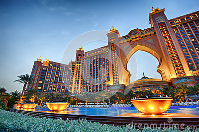 Atlantis, The Palm Dubai Editorial Stock Photo