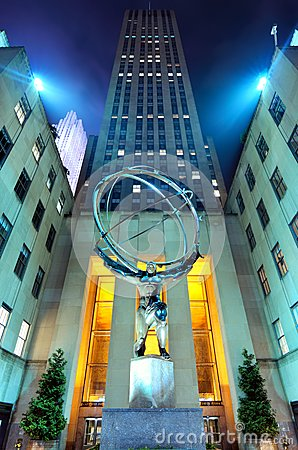 Atlas at Rockefeller Center Editorial Photo