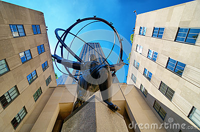 Atlas at Rockefeller Center Editorial Stock Photo