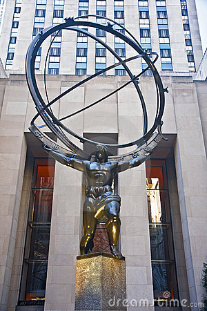 Atlas statue Editorial Stock Photo