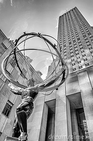 Atlas Statue, New York Editorial Stock Image