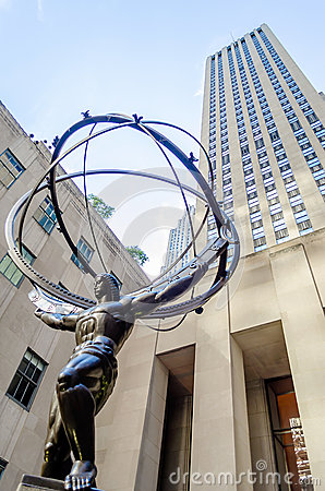 Atlas Statue, New York Editorial Image