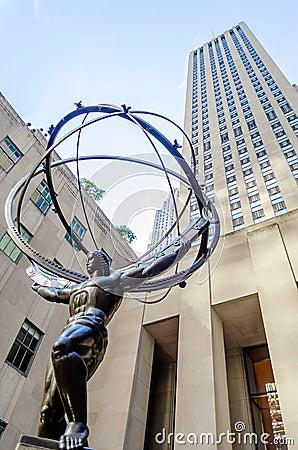 Atlas Statue, New York Editorial Image
