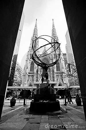 Atlas Statue, New York City Editorial Image