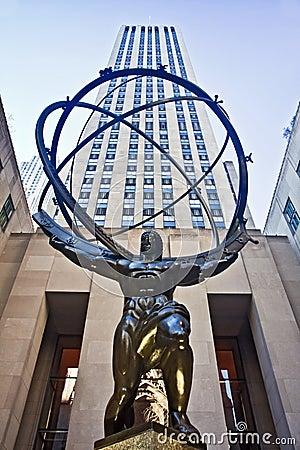 Atlas statue and Rockefeller Center Editorial Photography