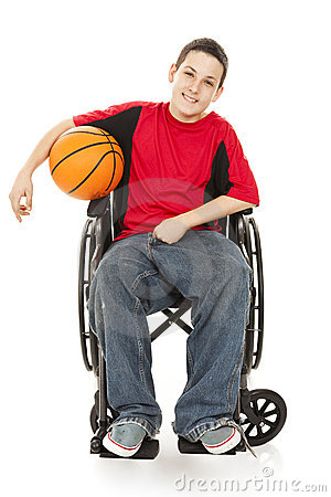 Atleta adolescente incapacitado