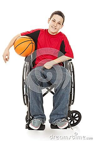 Atleta adolescente lisiado