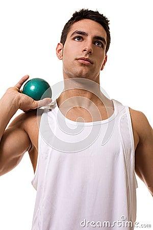 Atleta con il colpo