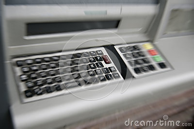 ATM (automated teller machine) QWERTY keyboard