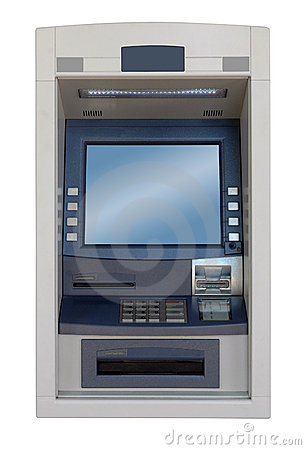 ATM machine - front view