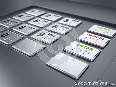ATM machine keypad