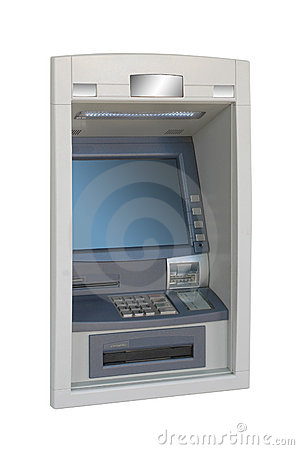 ATM machine -lateral view