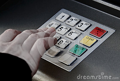 ATM machine pin buttons security