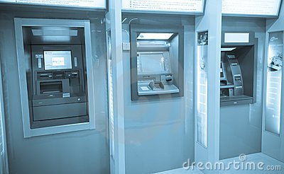 ATM machines Editorial Stock Photo