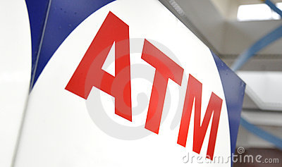ATM Money Machine Closeup