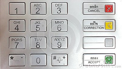 atm machine number pad